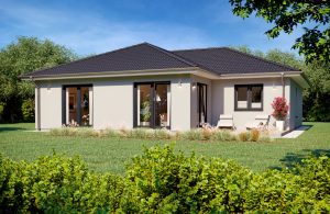 Bungalow Ouvertüre Modern Gartenansicht