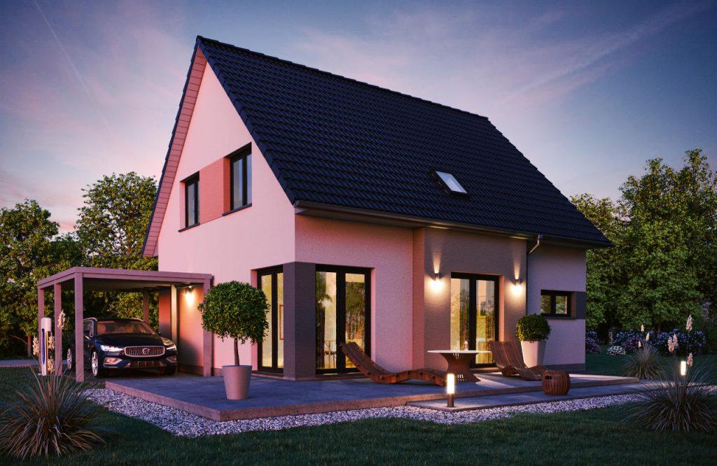 Einfamilienhaus Topas 130 Nachtansicht