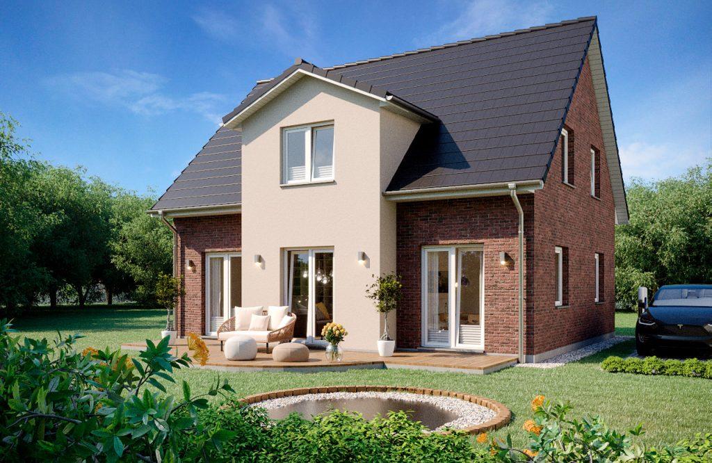 Einfamilienhaus Rubin 140 Gartenansicht